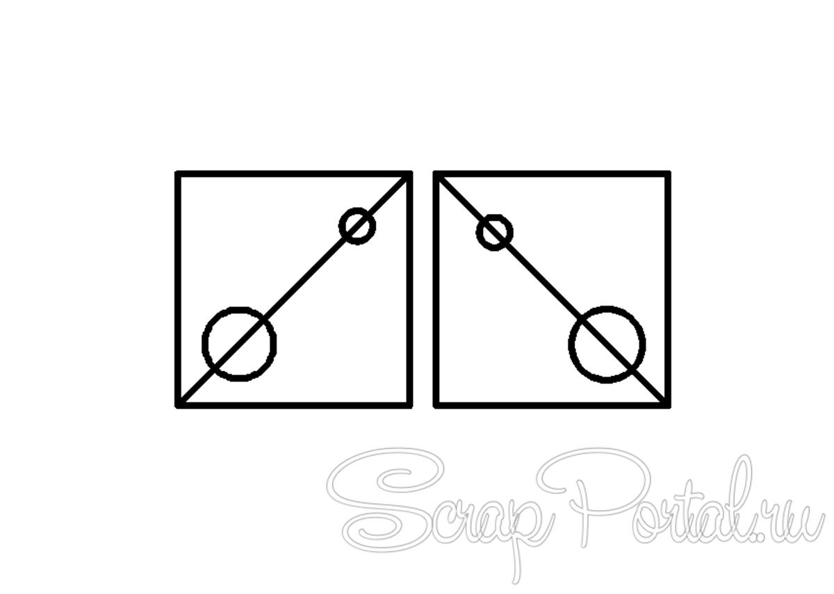 В композиции диагональная